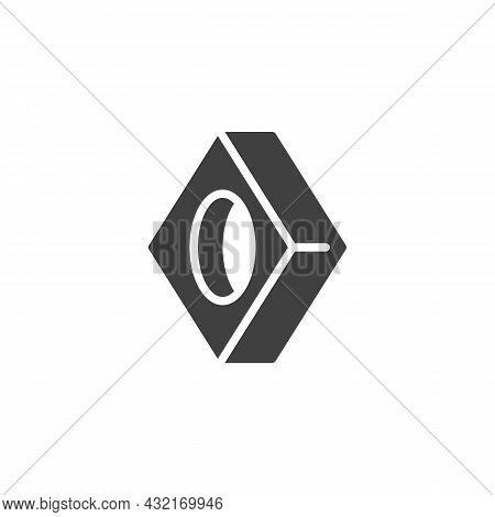 Square Washer, Fastener Vector Icon. Filled Flat Sign For Mobile Concept And Web Design. Strut Washe