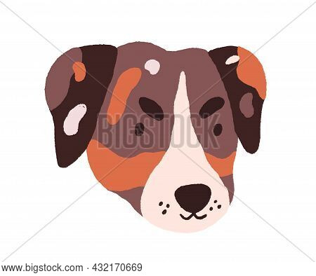 Cute Dogs Face. Puppys Head Of Jack Russell Terrier. Adorable Doggy Portrait. Amusing Funny Muzzle O