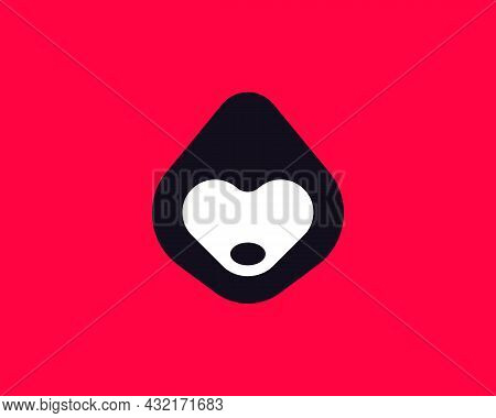 Abstract Anonymous Person Vector Logo Design. Creative Man In The Hood, Hacker, Dog Face Flat Symbol