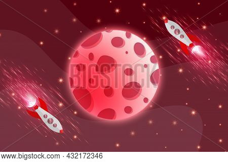 9 Blue Space Abstract Background