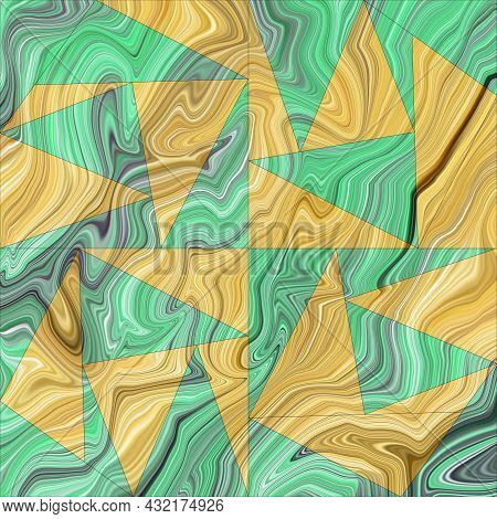 Abstract Prints, Creative Tile Surface. Triangles, Abstract Background. Modern Mosaic Wallpaper. Art