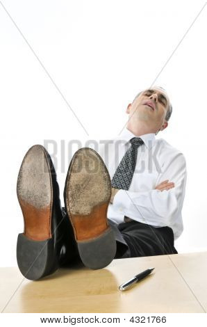 Sleeping Businessman
