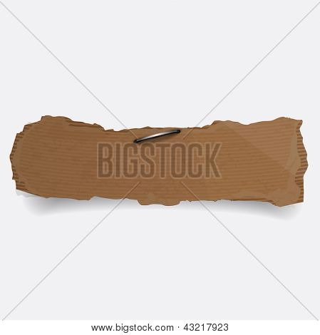 Cardboard tag on white background. Vector.