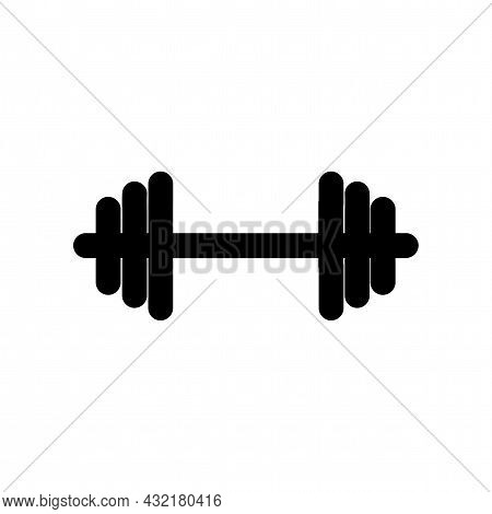 Barbell Vector Icon. Barbell Simple Isolated Icon.