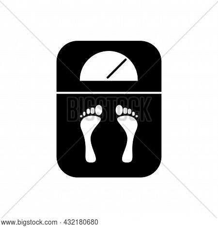 Analogue Weighing Machine Vector Icon. Analogue Weighing Machine Simple Isolated Icon. Fitnes Scales