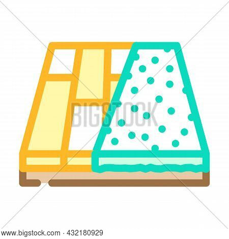 Various Materials Floor Color Icon Vector. Various Materials Floor Sign. Isolated Symbol Illustratio