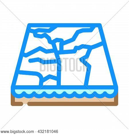 Marble Material Floor Layer Color Icon Vector. Marble Material Floor Layer Sign. Isolated Symbol Ill