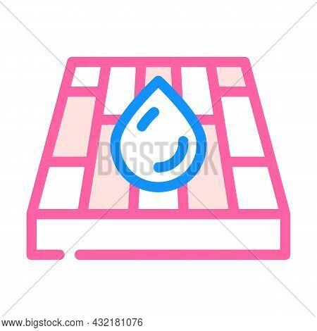 Waterproof Layer Floor Color Icon Vector. Waterproof Layer Floor Sign. Isolated Symbol Illustration