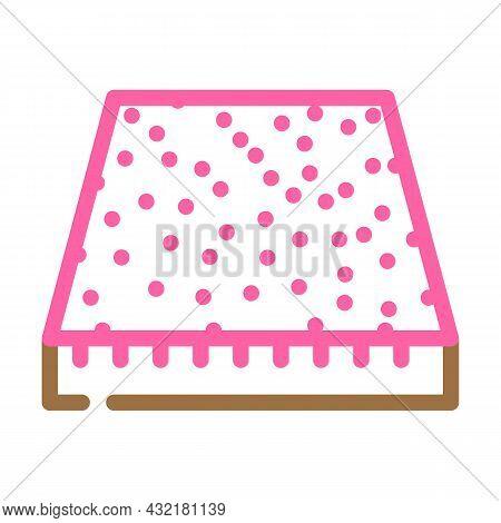 Carpet Floor Color Icon Vector. Carpet Floor Sign. Isolated Symbol Illustration