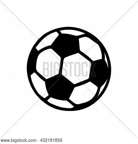 Soccer Ball Vector Icon. Soccer Ball Simple Isolated Icon.