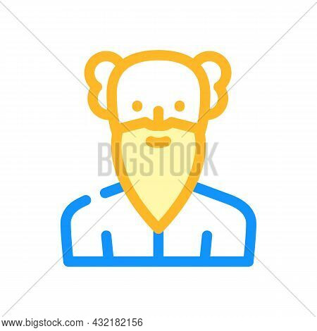 Old Age Man Color Icon Vector. Old Age Man Sign. Isolated Symbol Illustration