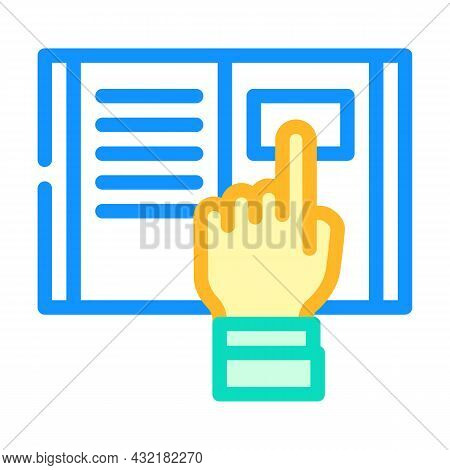 Research Instruction Color Icon Vector. Research Instruction Sign. Isolated Symbol Illustration