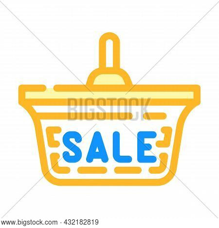 Ceiling Lamp Sale Color Icon Vector. Ceiling Lamp Sale Sign. Isolated Symbol Illustration
