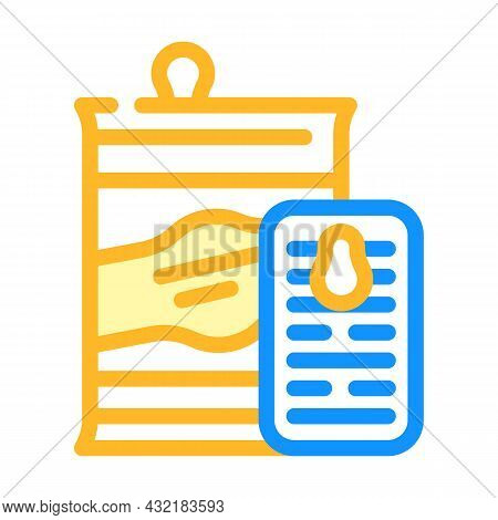 Preserves And Canned Food Department Color Icon Vector. Preserves And Canned Food Department Sign. I
