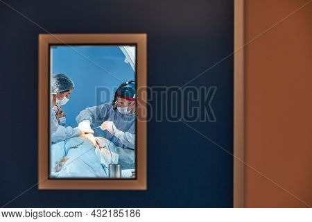 Behind The Doors Of The Operating Room, Equipment And Medical Devices In The Modern Operating Room.