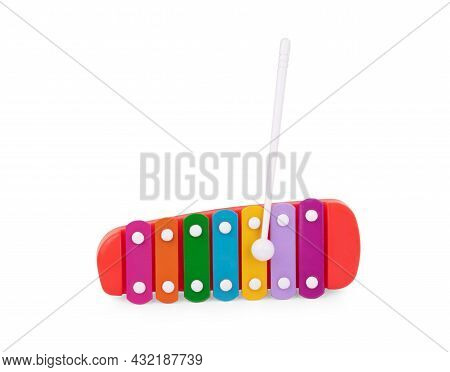 Colour Xylophone Isolated On White Background Generated, Sound, Device, Drum, Song, Color, Joy, Scal