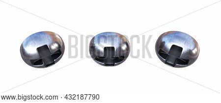 Stainless Steel Hexagon Domed Cap Nut Isolated On White Background - 3d Render