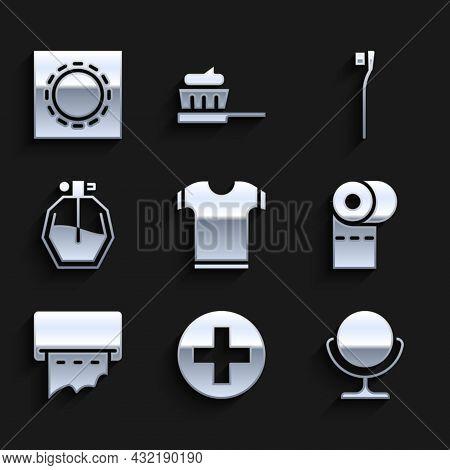 Set T-shirt, Cross Hospital Medical, Round Makeup Mirror, Toilet Paper Roll, Paper Towel Dispenser O