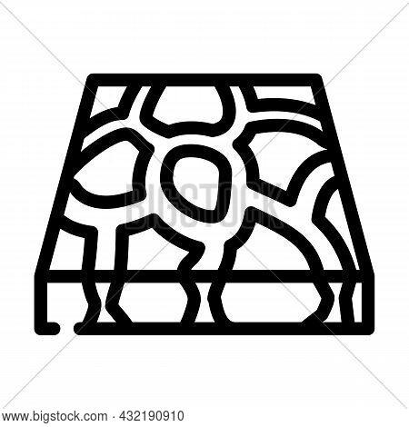 Stone Floor Line Icon Vector. Stone Floor Sign. Isolated Contour Symbol Black Illustration