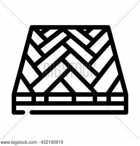 Parquet Floor Line Icon Vector. Parquet Floor Sign. Isolated Contour Symbol Black Illustration