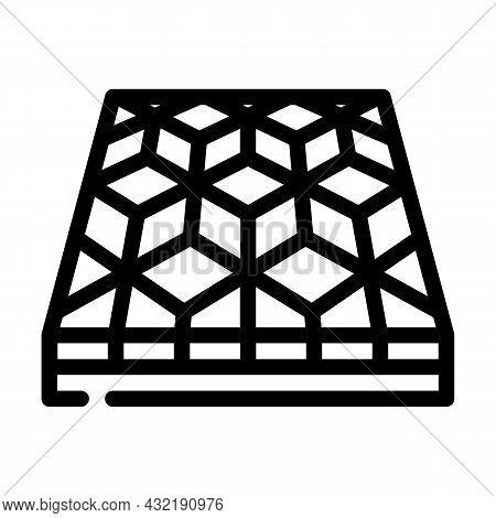 Mosaic Floor Line Icon Vector. Mosaic Floor Sign. Isolated Contour Symbol Black Illustration