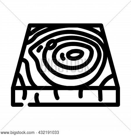 Wooden Floor Line Icon Vector. Wooden Floor Sign. Isolated Contour Symbol Black Illustration