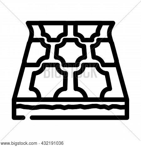Linoleum Layer Floor Line Icon Vector. Linoleum Layer Floor Sign. Isolated Contour Symbol Black Illu