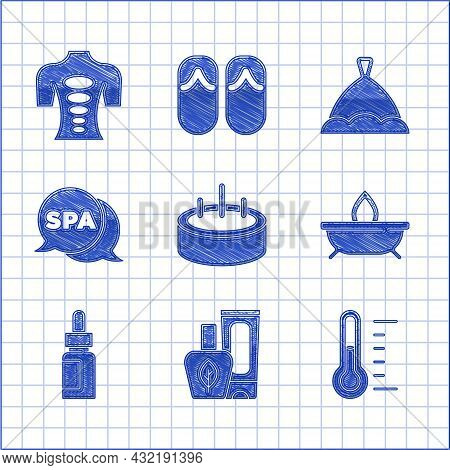 Set Swimming Pool With Ladder, Ointment Cream Tube, Sauna Thermometer, Aroma Candle, Essential Oil B