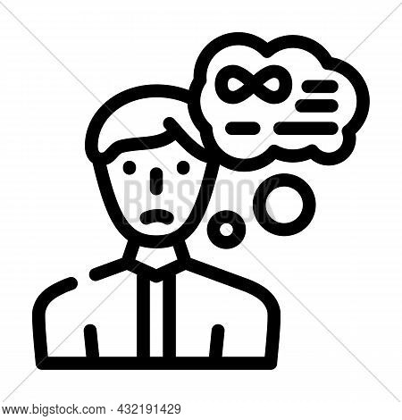 Middle Ages Crisis Man Line Icon Vector. Middle Ages Crisis Man Sign. Isolated Contour Symbol Black