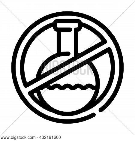 Silicone Chemical Liquid Free Line Icon Vector. Silicone Chemical Liquid Free Sign. Isolated Contour