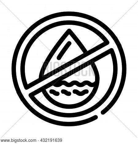 Fat Free Line Icon Vector. Fat Free Sign. Isolated Contour Symbol Black Illustration