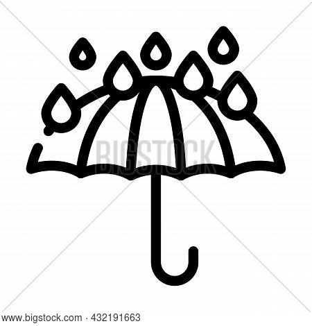 Keep Dry Care From Water Line Icon Vector. Keep Dry Care From Water Sign. Isolated Contour Symbol Bl