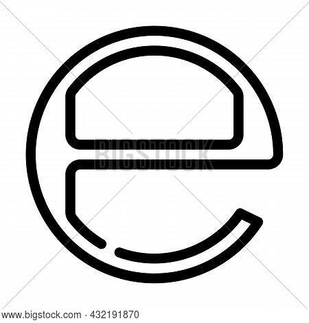 Estimated E Mark Line Icon Vector. Estimated E Mark Sign. Isolated Contour Symbol Black Illustration