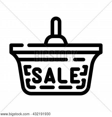 Ceiling Lamp Sale Line Icon Vector. Ceiling Lamp Sale Sign. Isolated Contour Symbol Black Illustrati