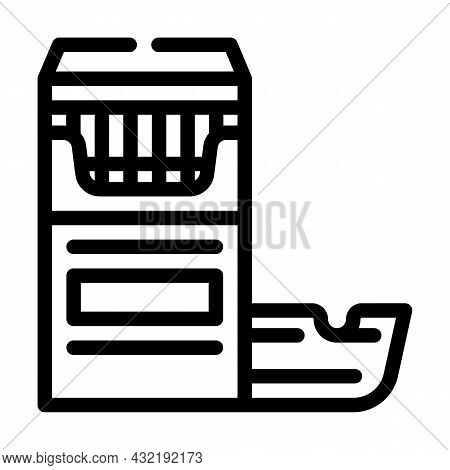 Cigarettes And Ash Tray Line Icon Vector. Cigarettes And Ash Tray Sign. Isolated Contour Symbol Blac