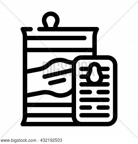 Preserves And Canned Food Department Line Icon Vector. Preserves And Canned Food Department Sign. Is