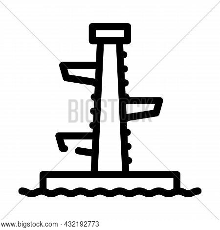 Jumping Tower Line Icon Vector. Jumping Tower Sign. Isolated Contour Symbol Black Illustration