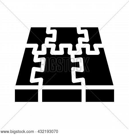 Rubber Cover Floor Glyph Icon Vector. Rubber Cover Floor Sign. Isolated Contour Symbol Black Illustr