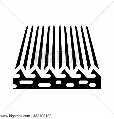 Tactile Flooring Glyph Icon Vector. Tactile Flooring Sign. Isolated Contour Symbol Black Illustratio