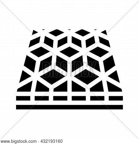 Mosaic Floor Glyph Icon Vector. Mosaic Floor Sign. Isolated Contour Symbol Black Illustration