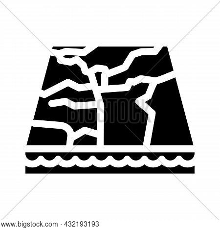 Marble Material Floor Layer Glyph Icon Vector. Marble Material Floor Layer Sign. Isolated Contour Sy
