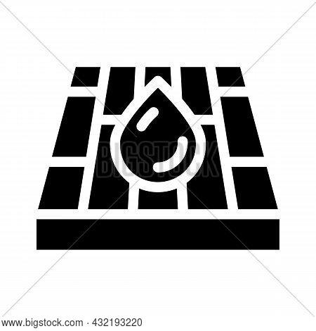 Waterproof Layer Floor Glyph Icon Vector. Waterproof Layer Floor Sign. Isolated Contour Symbol Black