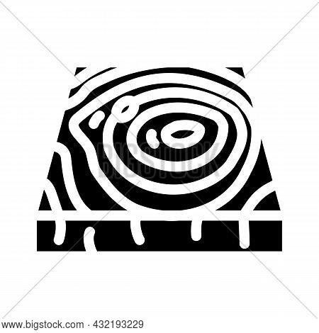 Wooden Floor Glyph Icon Vector. Wooden Floor Sign. Isolated Contour Symbol Black Illustration