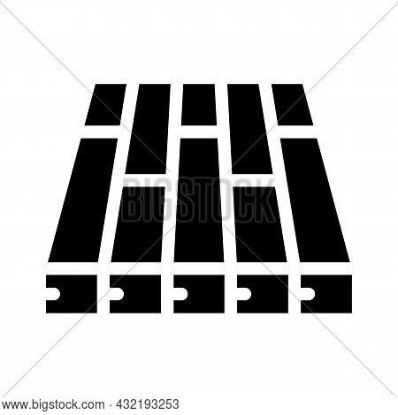 Batten Floor Glyph Icon Vector. Batten Floor Sign. Isolated Contour Symbol Black Illustration