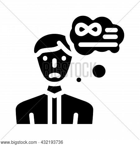 Middle Ages Crisis Man Glyph Icon Vector. Middle Ages Crisis Man Sign. Isolated Contour Symbol Black