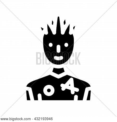 Youth Man Glyph Icon Vector. Youth Man Sign. Isolated Contour Symbol Black Illustration