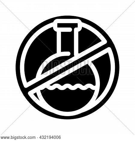 Silicone Chemical Liquid Free Glyph Icon Vector. Silicone Chemical Liquid Free Sign. Isolated Contou