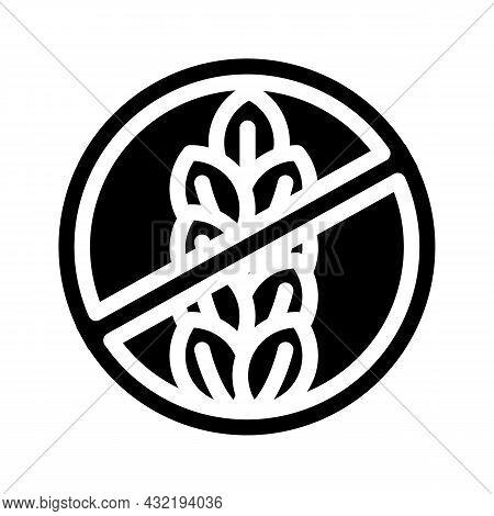 Gluten Free Glyph Icon Vector. Gluten Free Sign. Isolated Contour Symbol Black Illustration