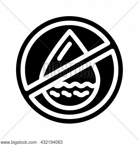 Fat Free Glyph Icon Vector. Fat Free Sign. Isolated Contour Symbol Black Illustration