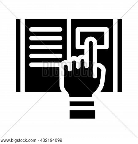Research Instruction Glyph Icon Vector. Research Instruction Sign. Isolated Contour Symbol Black Ill